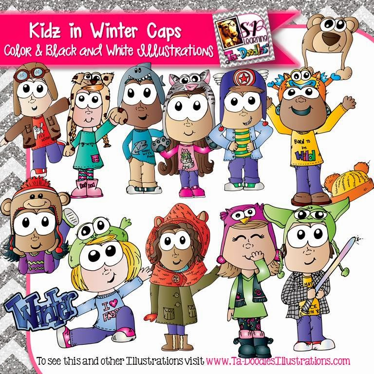 http://www.teacherspayteachers.com/Product/Kids-Wearing-Fun-Winter-Hats-Clip-Art-1598837