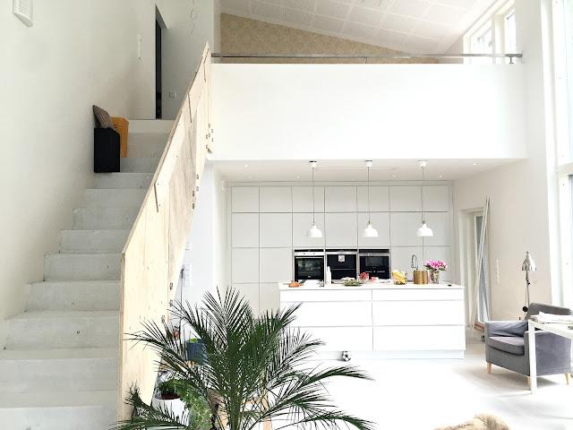 olohuone, keittiö, kvik, mano, betoniportaat