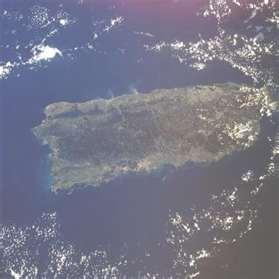 Foto satelital de Puerto Rico