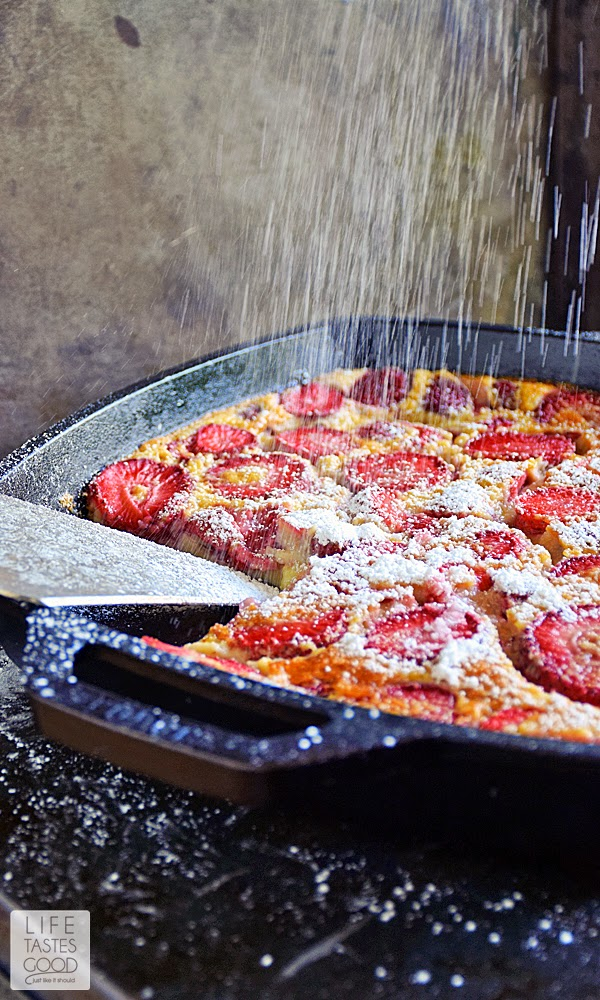 Strawberry Clafoutis | by Life Tastes Good