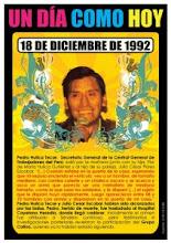 Homenaje de la ciudad de Lima a Pedro Huilca