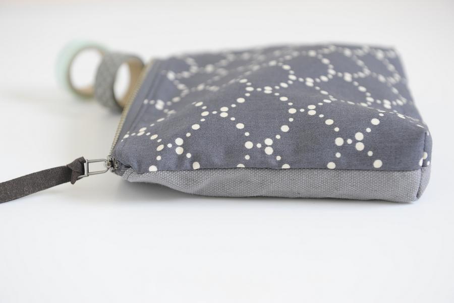 zipper handle zip clutch