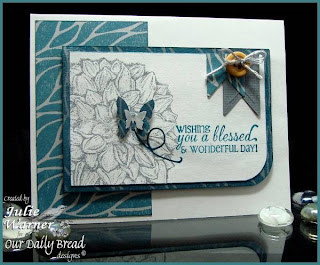 Stamps - Our Daily Bread Designs Weave Background, Dahlia , Flourished Verses