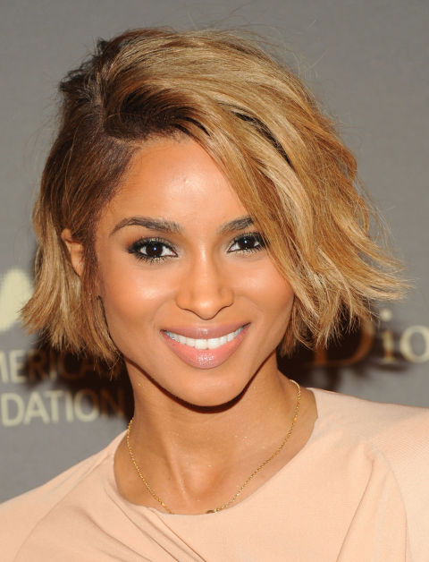 Coloration blond miel sur cheveux brun