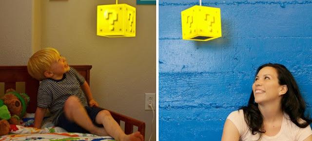 スーパーマリオのハテナブロック型ライトが可愛いすぎて憎い:Question Block Lamp
