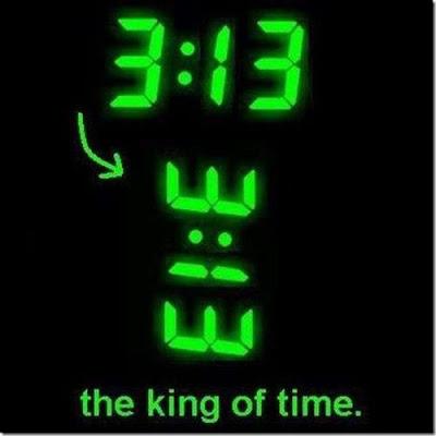 3:13 König unter den Uhrzeiten