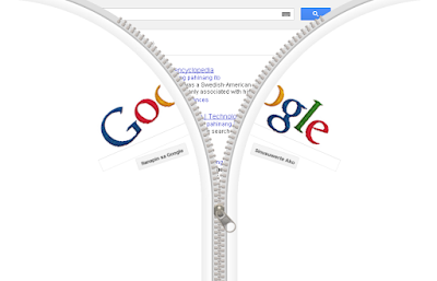 Google Doodle: The Google Zipper
