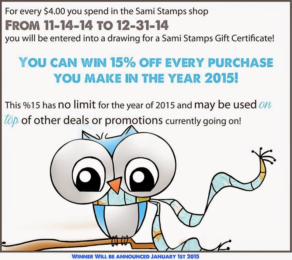 Sweet deal at Sami Stamps until the end of 2014!