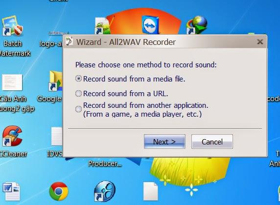 phần mềm gi âm phát ra từ máy tính All2WAV Recorder