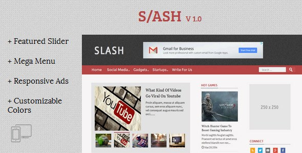 Slash Tech v2.0 Magazine Blogger Template