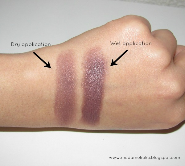 NYX Nude Matte Shadow Skinny Dip - Reviews, Photos. Swatches - dry application and wet application