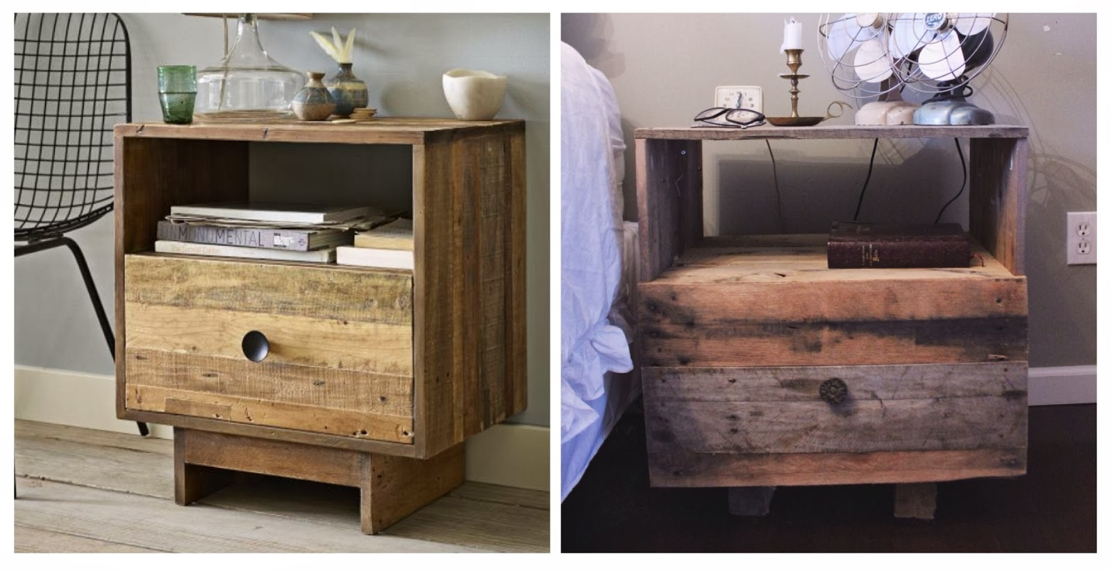 DIY West Elm Pallet Wood Nightstand Like The Yogurt