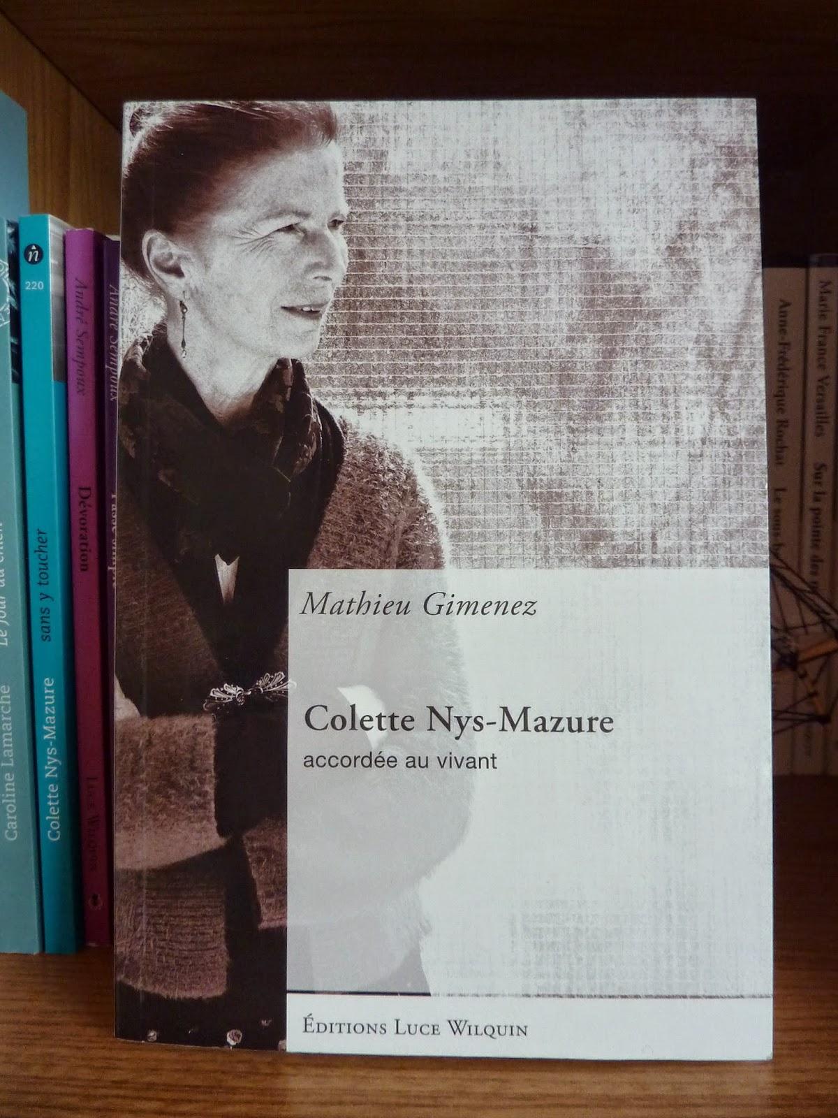 Colette Nys-Mazure - Mathieu Gimenez
