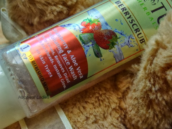 Lotus Herbals BerryScrub Strawberry and Aloevera Exfoliating Face Wash Review+skin care brand
