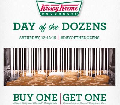 Krispy Kreme BOGO Day of the Dozens