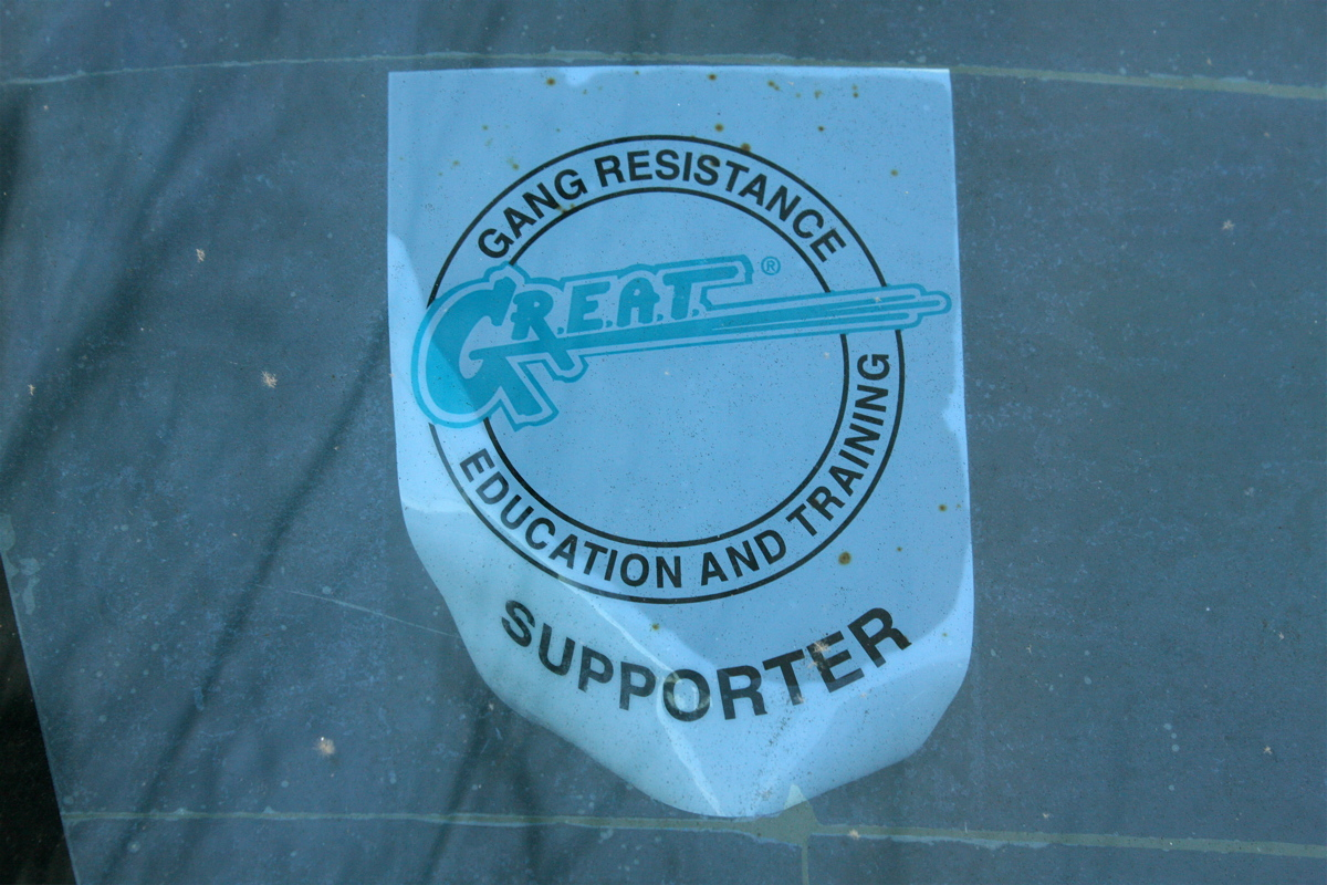 Gang Resistance Education and Training GREAT sticker