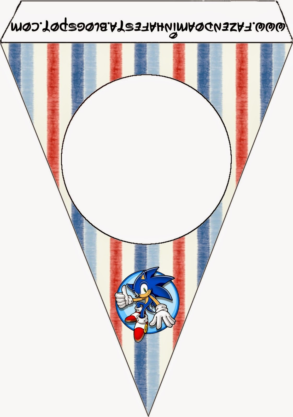 Free Printable Bunting of Sonic.