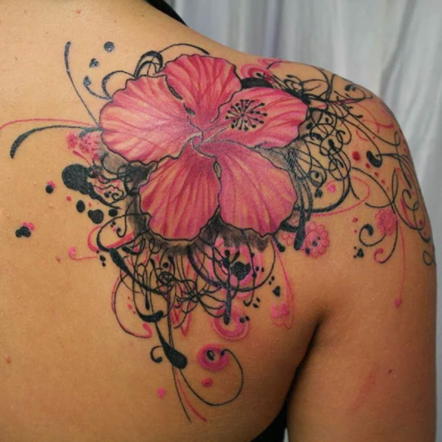 tattoo gallery for men: Flower Tattoo For Men On Shoulder