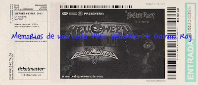 Helloween, Gammaa Ray, ticket