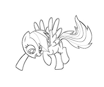 #5 Rainbow Dash Coloring Page