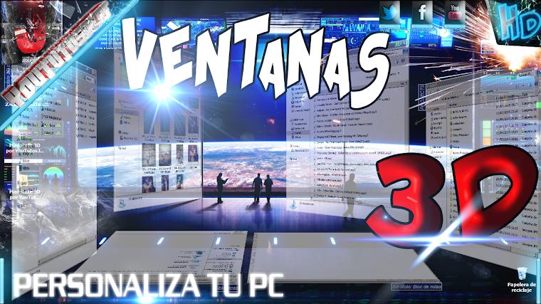 COMO PONER LAS VENTANAS DE WINDOWS EN 3D | 2015
