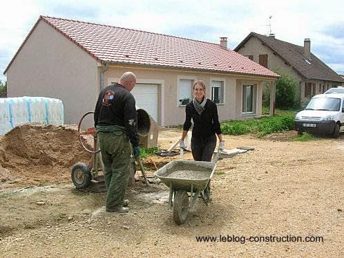 Tareas de autoconstrucción de una casa de mampostería