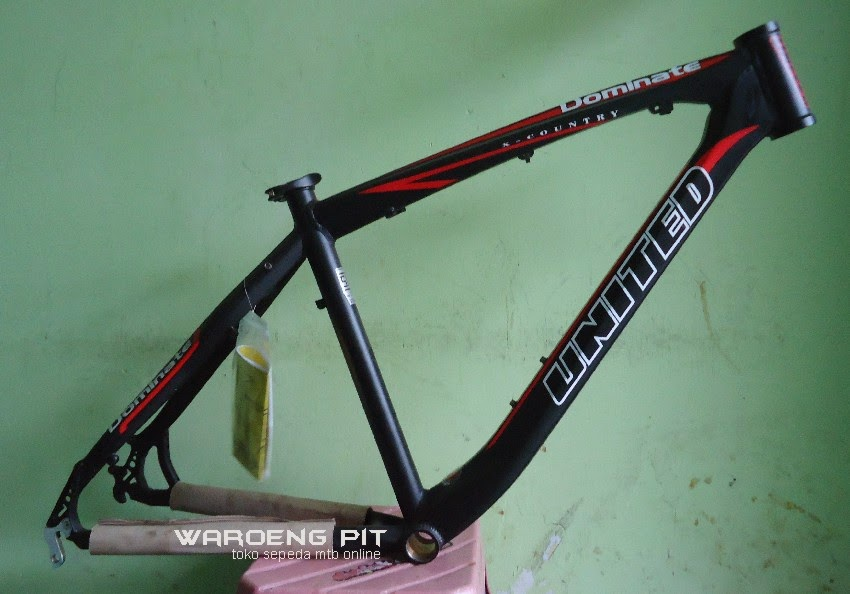 Jual Frame Dominate 012 X country warna hitam merah sepeda mtb gunung mountain bike murah waroengpit