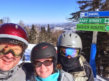 Chuck and Lori's Travel Blog - Chuck, Lori, and Randy at Killington, VT