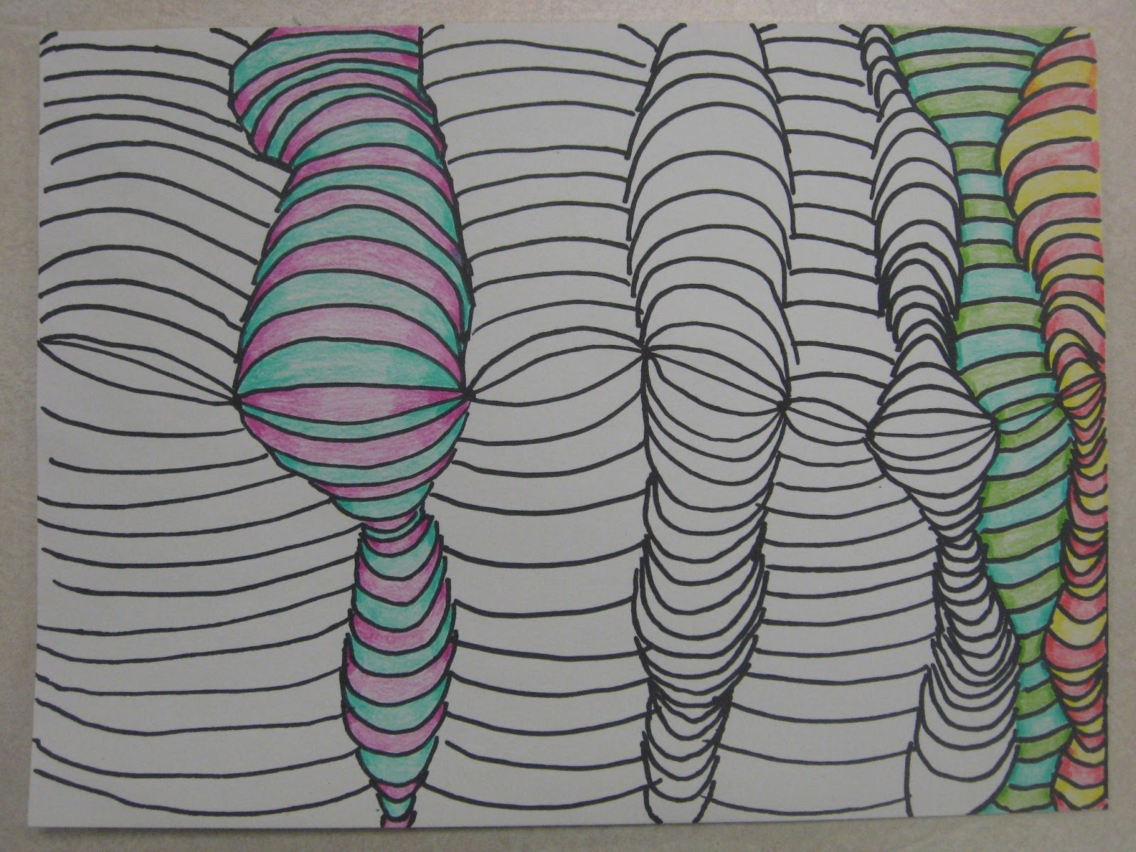 3d Line Design : Miss young s art room d line design with th grade