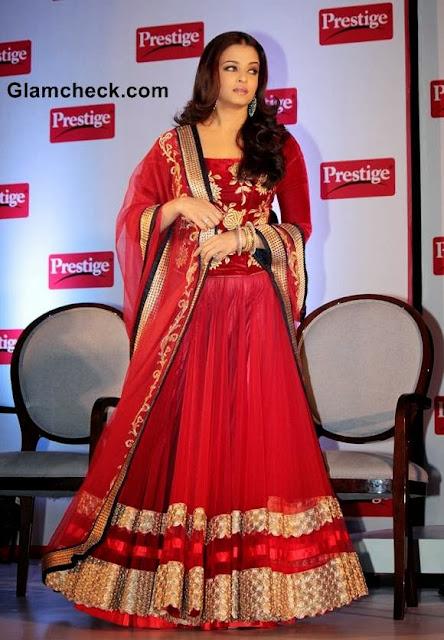 Aishwarya Rai Bachchan in Red Lehenga