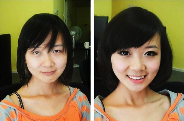 makeup before and after korean - photo #13