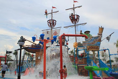 the kids had a blast at the pirate ship water works