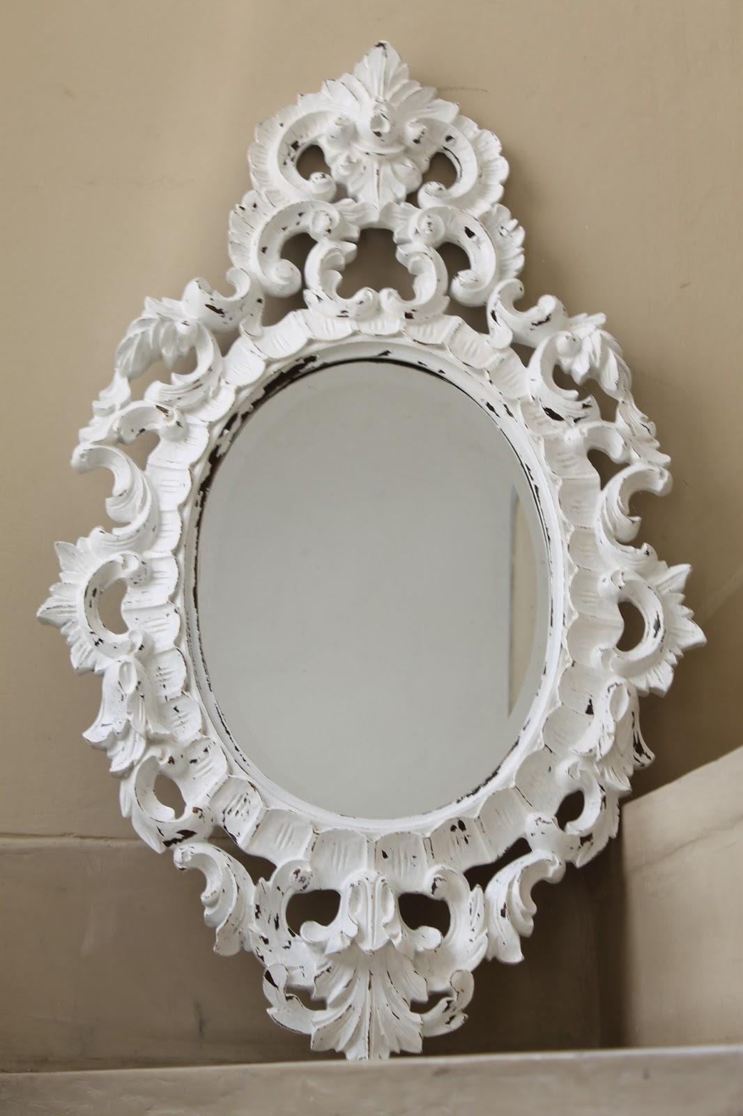 Espejo tallado blanco deco marce tienda for Espejos tallados