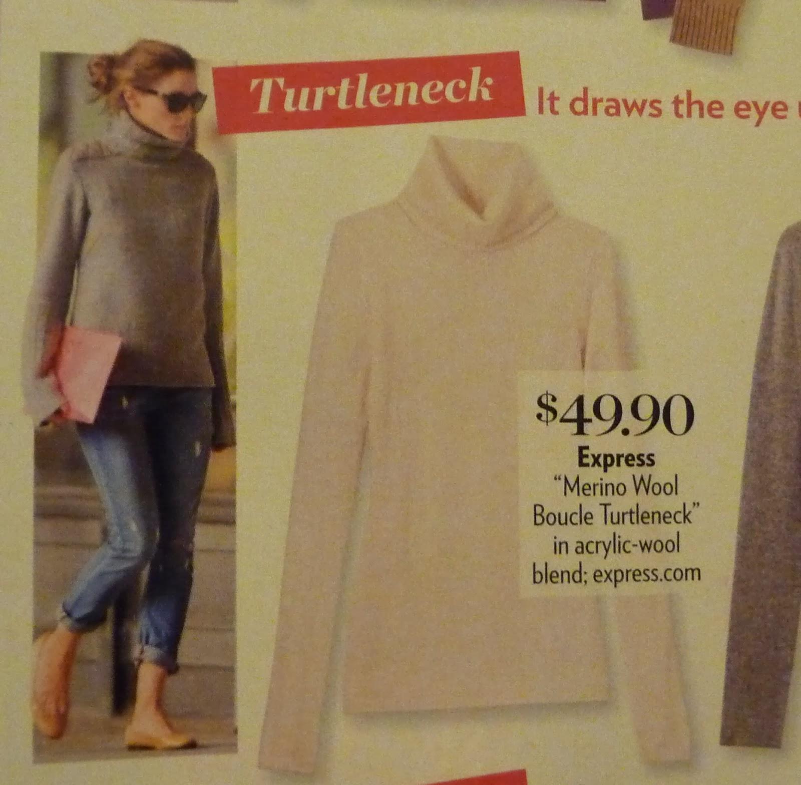 express merino wool boucle turtleneck