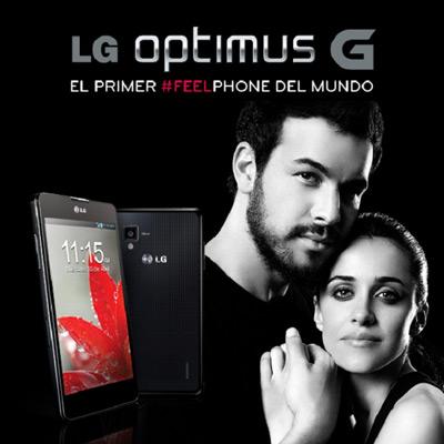 LG Optimus G. Anuncio Mario Casas y Macarena García