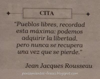 frases de Jean-Jacques Rousseau