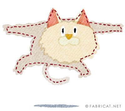 ジャンプする可愛い猫のイラスト