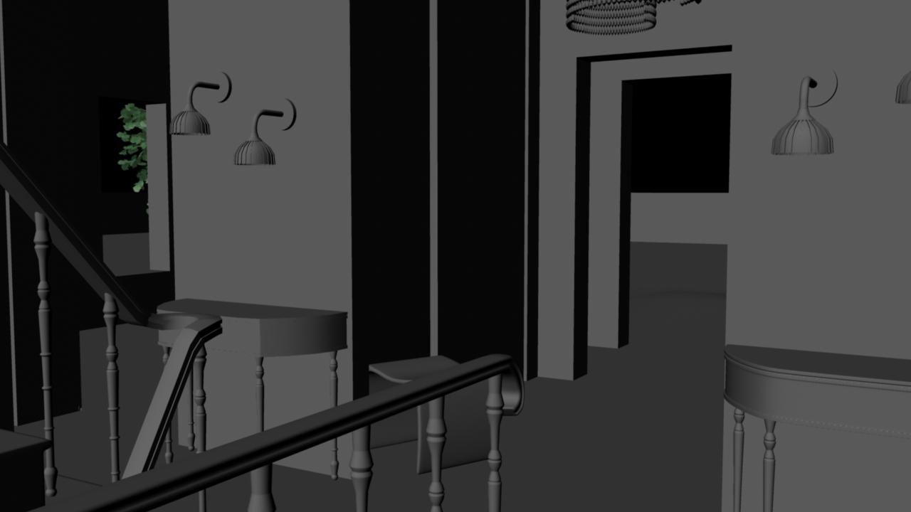 Sasha lacroix maison virtuelle int rieur hall d 39 entr e - Photo hall d entree maison ...