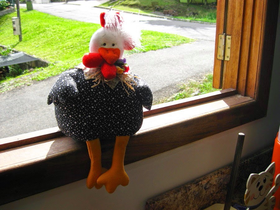 galinha de tecido peso de porta