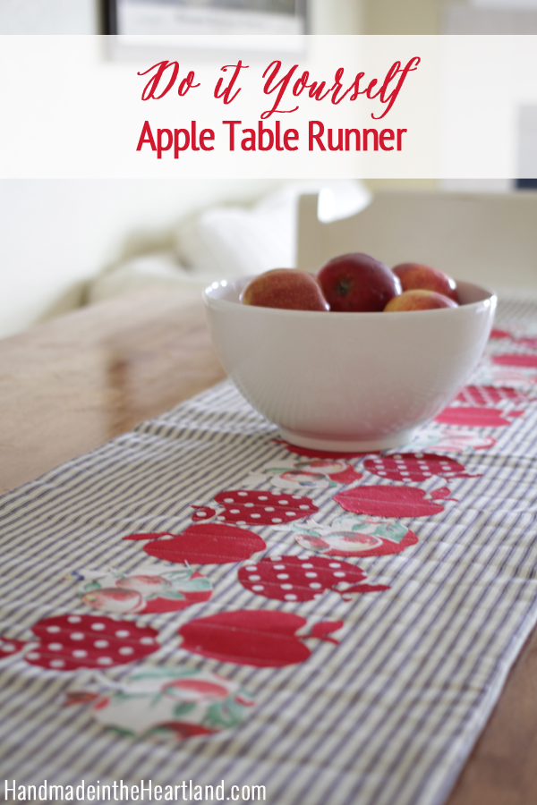 Exceptional Quilted Apple Table Runner