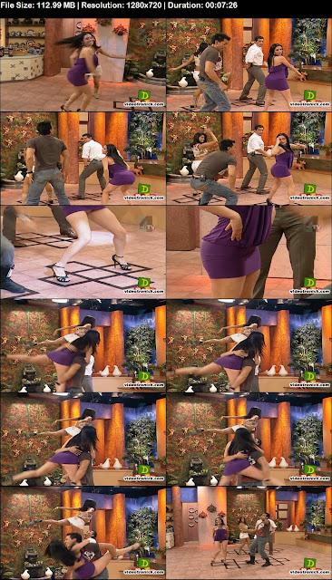 Sugey Abrego Con Un Mini Vestido De Lycra Muy Entallado Bailando Y