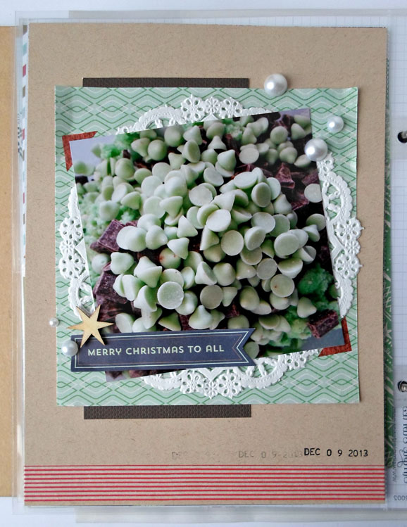 Christmas Cookies Scrapbook Layout