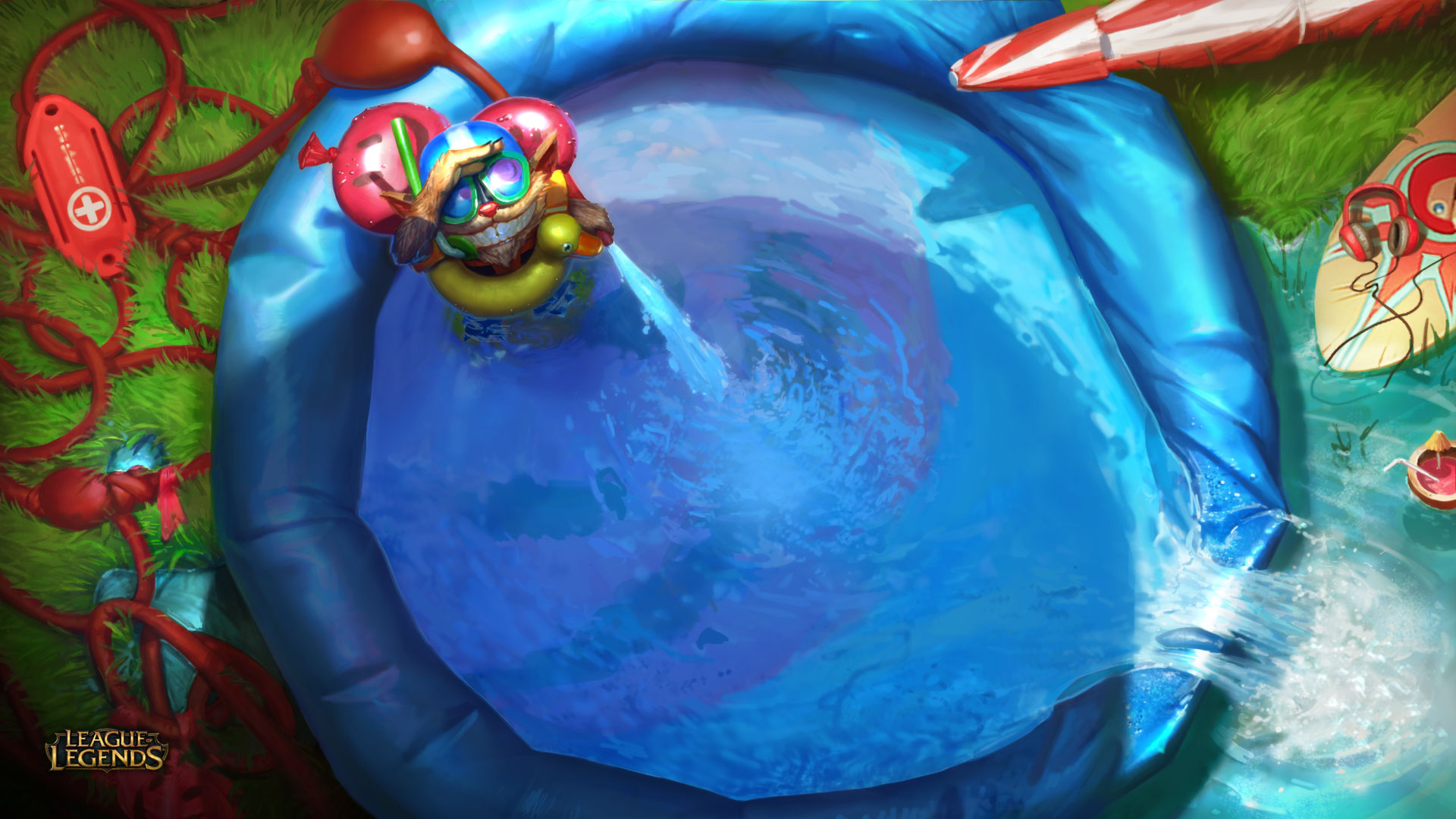 Game wallpaper league of legends yasuo wallpapers iphone with high - Ziggs Pool Party Lol 4b Wallpaper Hd