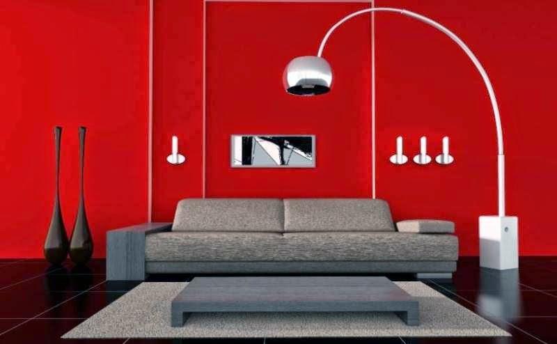 Interior  Rumah Minimalis Kombinasi Cat Warna Merah