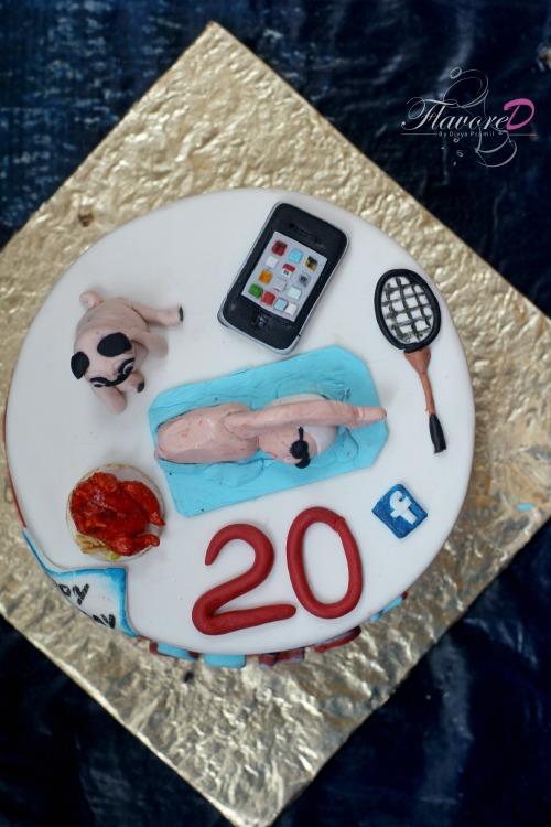 Birthday Cake For Brother Fondant Cake For Boys 20th Birthday Cake