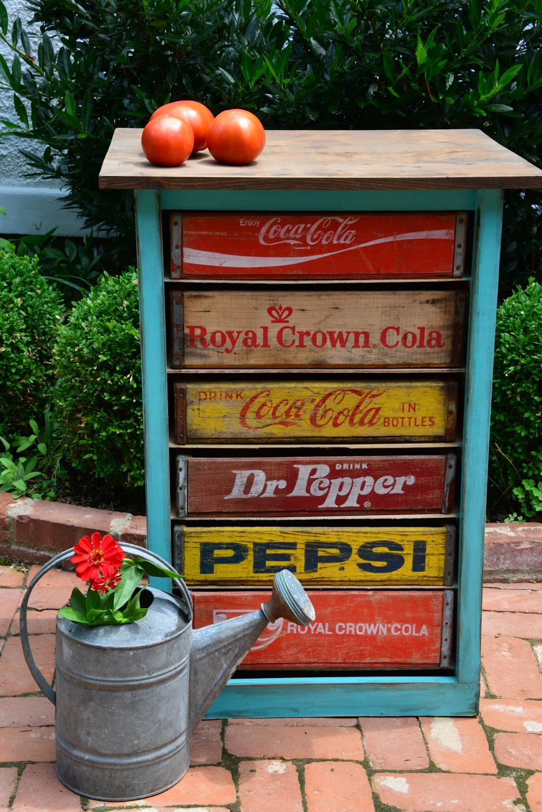 Soda crate cabinent cabin ideas pinterest for Wooden soda crate ideas