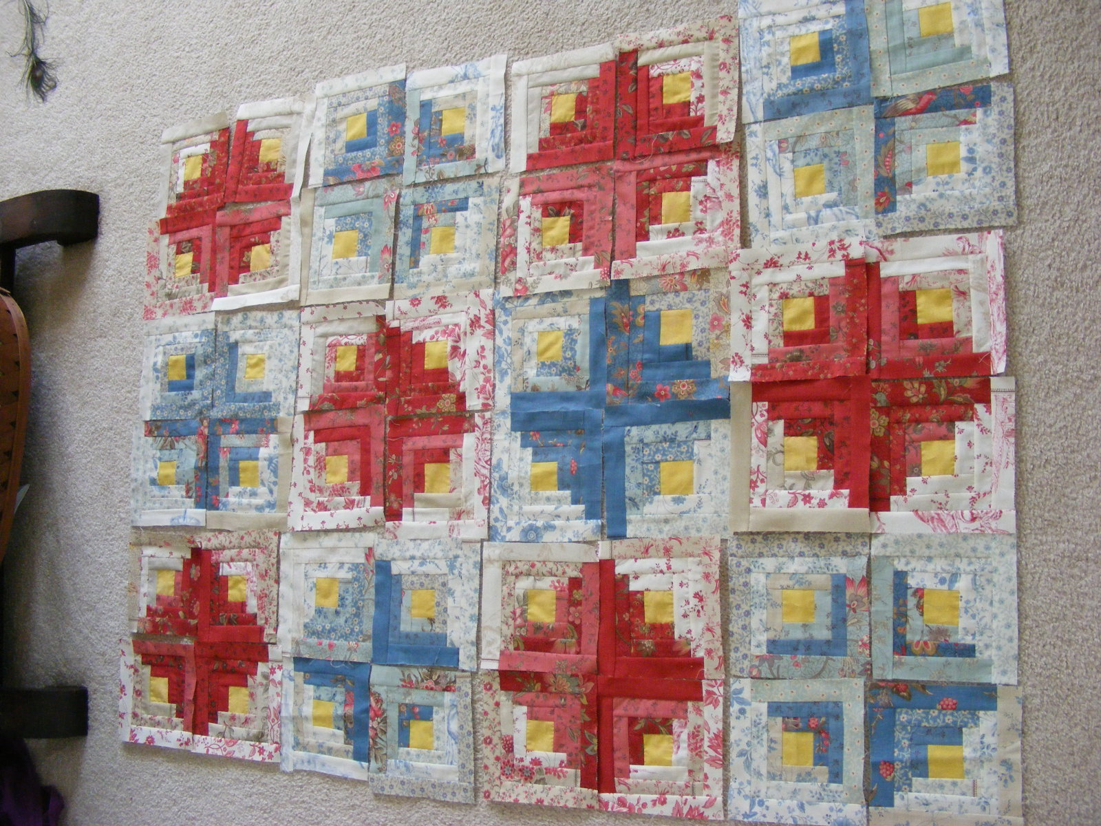 Camp Follower Bags And Quilts Log Cabin Quilt