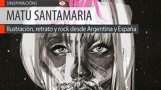 Ilustración, retrato y rock de MATU SANTAMARIA.