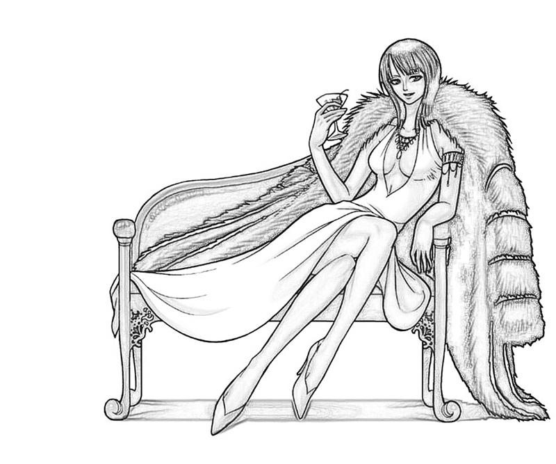 One Piece Coloring Pages http://howmakewebsite.blogspot.com/2012/10/one-piece-nico-robin-nice.html
