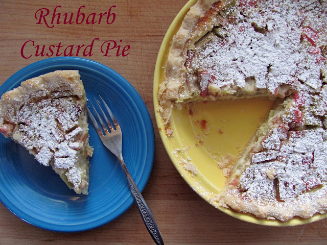 The girly girl cooks rhubarb custard pie for Better homes and gardens pie crust